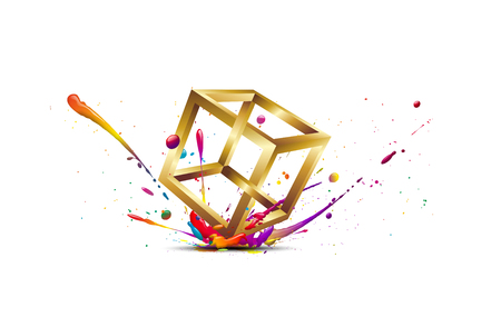 unsuitable: abstract illustration of an impact of an impossible colored figure