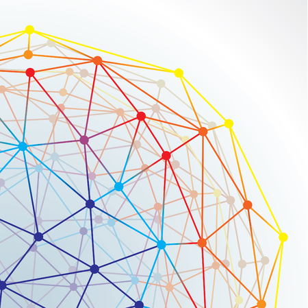 causal: abstract illustration of a net with connections