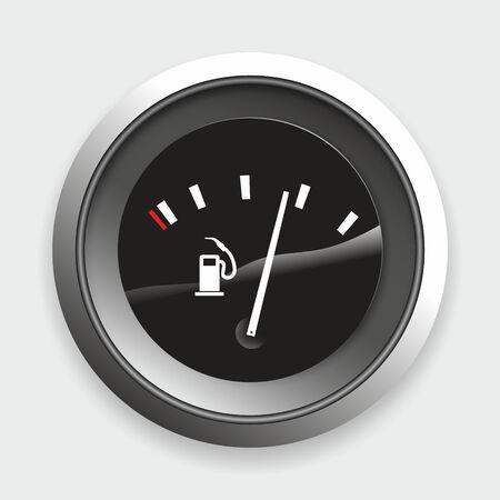 Illustration einer einfachen Tankanzeige in Autos Standard-Bild - 25943508