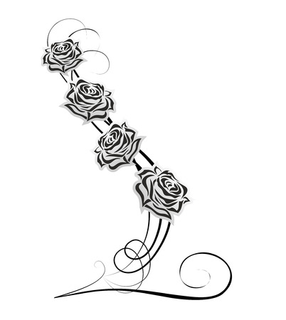 abstract decoration with rose and embellished elements Banque d'images