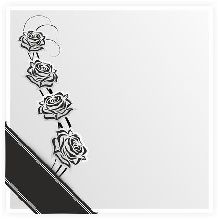 mourning decoration with rose and embellished elements photo