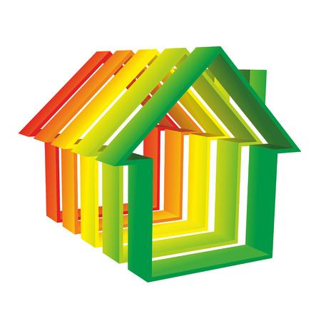 abstract silhouet van een huis als symbool voor woningbouw Stockfoto