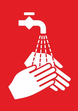 � fond: signe simplifi�e pour l'hygi�ne et la d�sinfection des mains