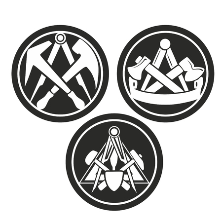 abstract symbols for different craftsmanship or guild