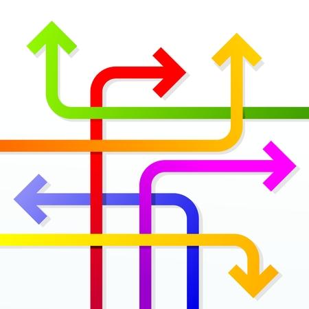 jumble of arrows as metaphor for disorientation