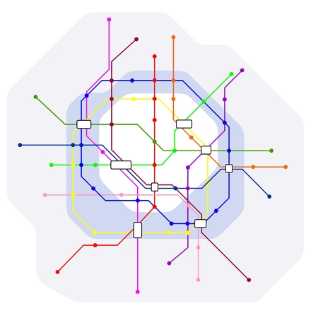abstract illustration of a fictive metro map