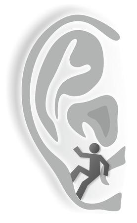 impairment: simplified illustration of ear as metaphor for hearing impairment