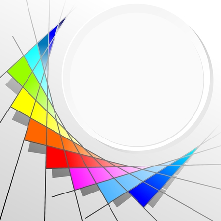 abstract illustration of a color circle with shades