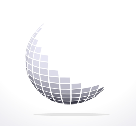 abstract illustration of a sphere with geometric shape Vector