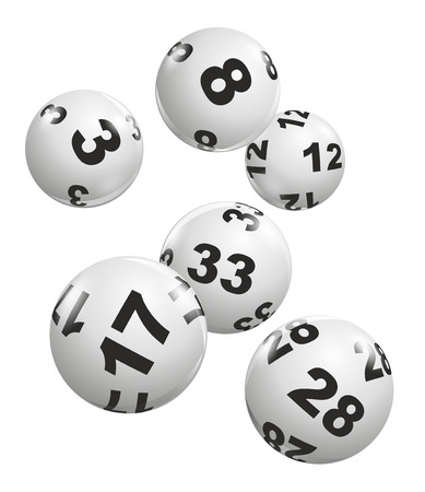 abstract illustration of dynamically falling lottery balls