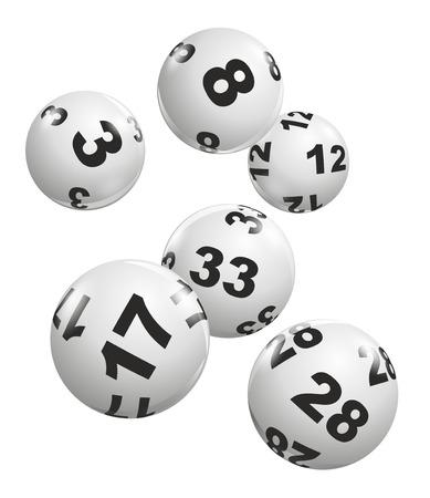 lottery: abstracte illustratie van dynamisch vallen loterijballen