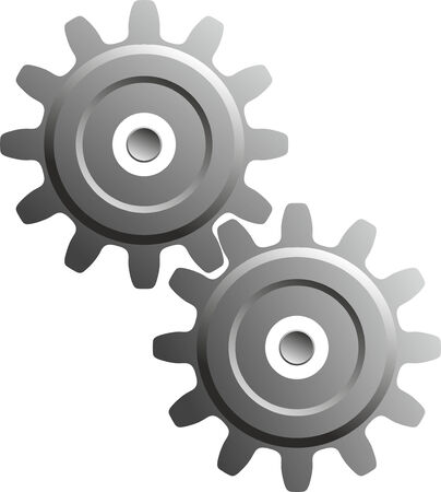 toothed: two gear wheels as a technical background