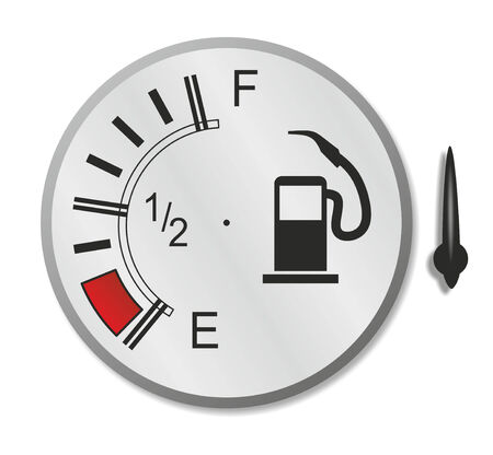 analogous: abstract and analogous fuel gauge with indicator