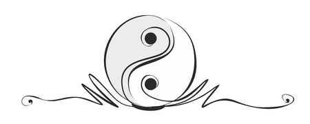 health symbols metaphors: abstract yin and yang sign as decorative element