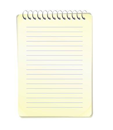 memo pad: abstract illustration of a blank memo pad