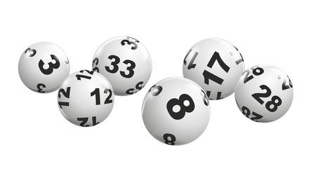 動的に宝くじにボールが転がりの抽象的なイラスト