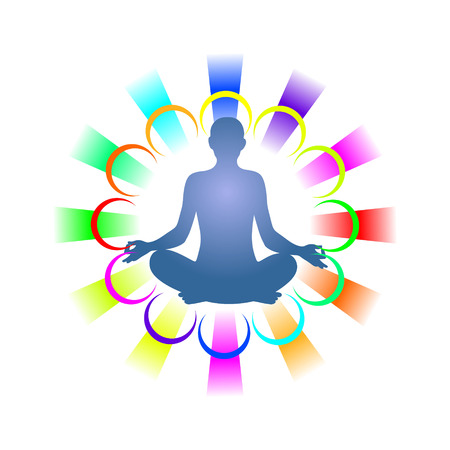 simplified symbol for a meditative yoga practice photo