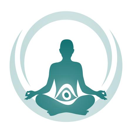 simplified symbol for a meditative yoga practice Vector