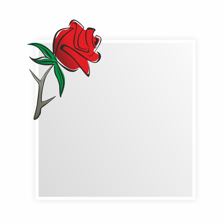 obituary template with rose and black ribbon photo