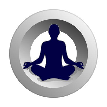 simplified symbol for a meditative yoga practice Stock Vector - 29198229