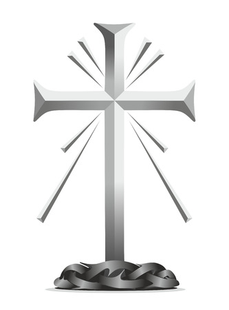 obituary: a decorative element with cross for obituary