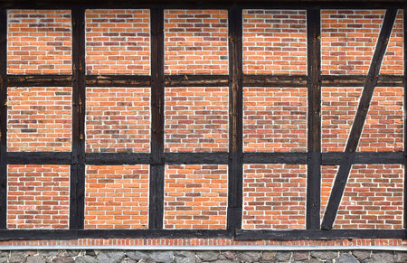 timbered: details of old timbered house in Germany