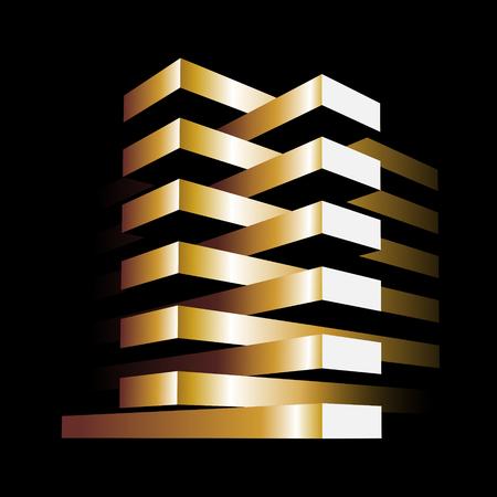 construction management: plain design of modern buildings as concept