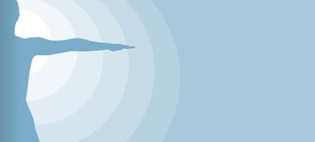 proporciones humanas como un fondo azulado abstracto Vectores