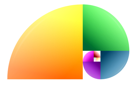 implementation of the Fibonacci sequence with colored elements