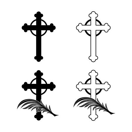 obituary: plain decoration for obituary, grave or funeral