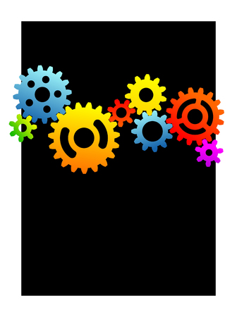 different gear wheels as a decorative background Vector