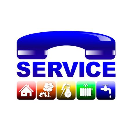 simbolo di facility management con diversi servizi