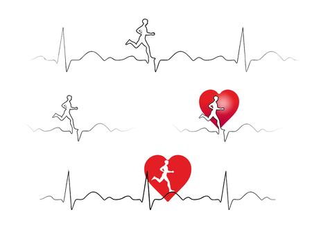 cardioid: ilustraci�n simb�lica del deporte y la salud del coraz�n