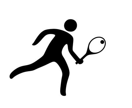 illustration of a tennis player as icon illustration