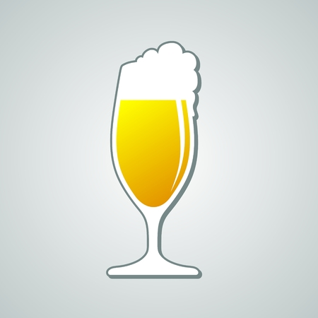 beer tulip: simplified illustration of a beer with head Stock Photo