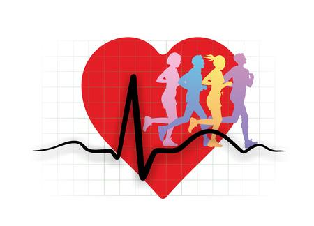cardioid: metáfora de la relación de entrenamiento de la resistencia y la salud del corazón