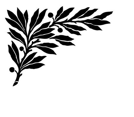 obituary: decorative laurel wreath for obituary and funeral