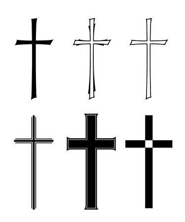 set with different designs of grave crosses