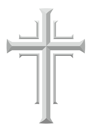 condolence: simplified grave cross with facets for decoration