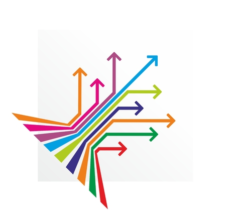 possibilities: colored lines with marks at the end Illustration