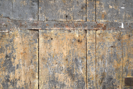 mountings: old and rotten wood with iron mountings