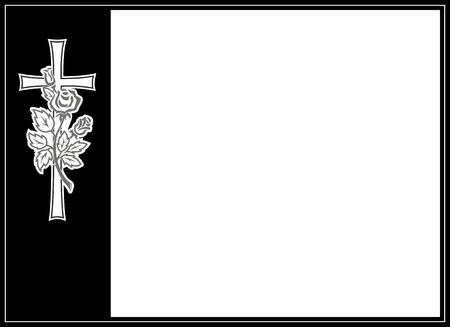 merken: Dekoration für Beerdigungen mit Kreuz und Rose Lizenzfreie Bilder
