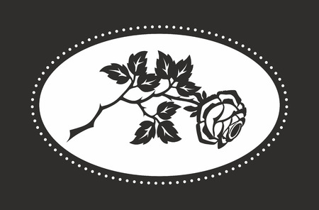 decoration for funerals with a monochrome rose Stock Photo