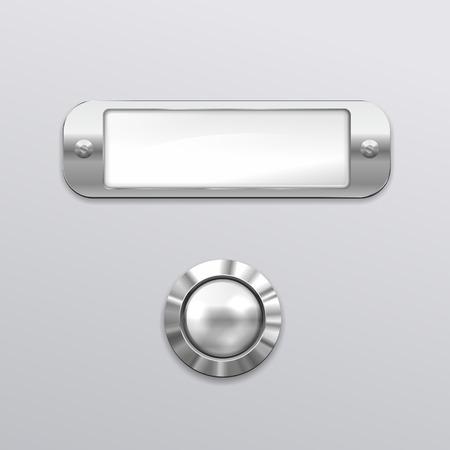 a door bell nameplate made of metal