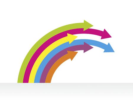 flechas curvas: forma abstracta hecha de m�ltiples flechas curvas