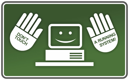 green computing: green sign with abstract advice for computing