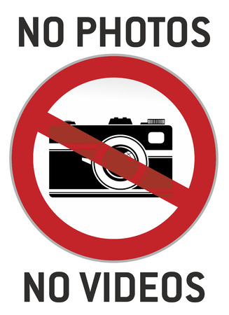 signet: no photography and video sign or pictogram Stock Photo