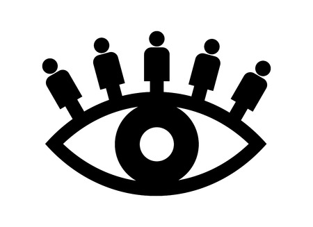watch groups: abstract symbol for a neighborhood watch group