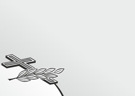 Cornice decorativa con croce per necrologi Archivio Fotografico - 35941082