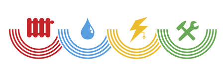 symbols for facility management and building technology
